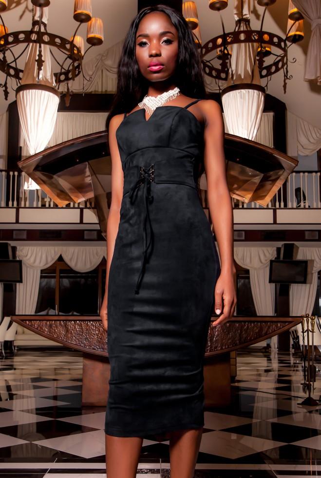Платье Бюстье черный