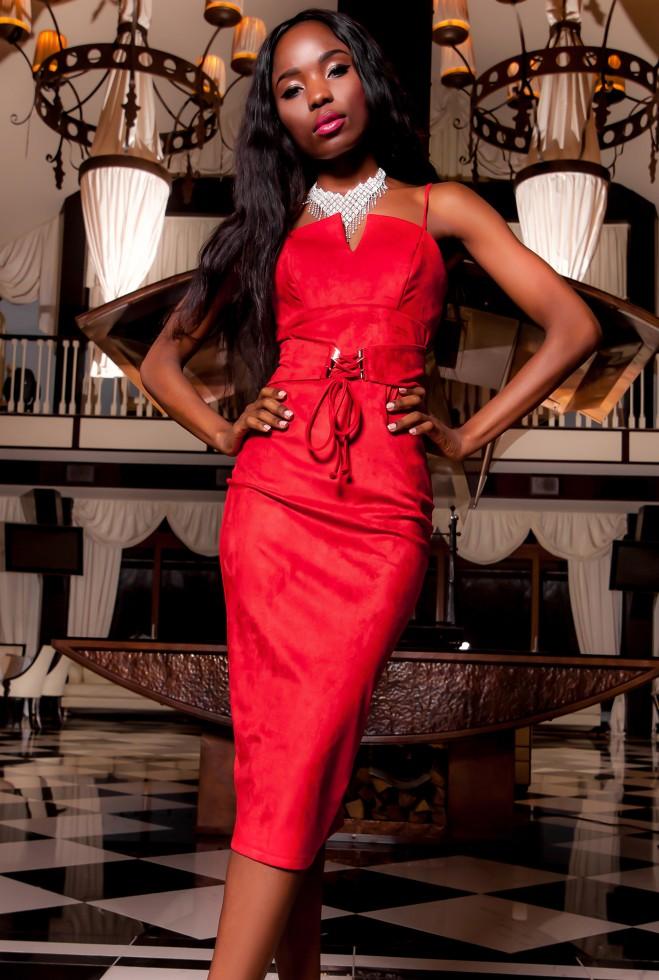 Платье Бюстье красный Жадон