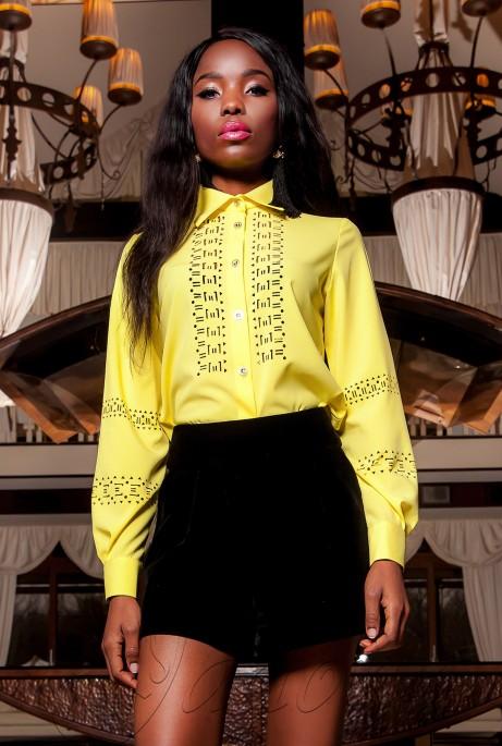 Рубашка Перфис жёлтый
