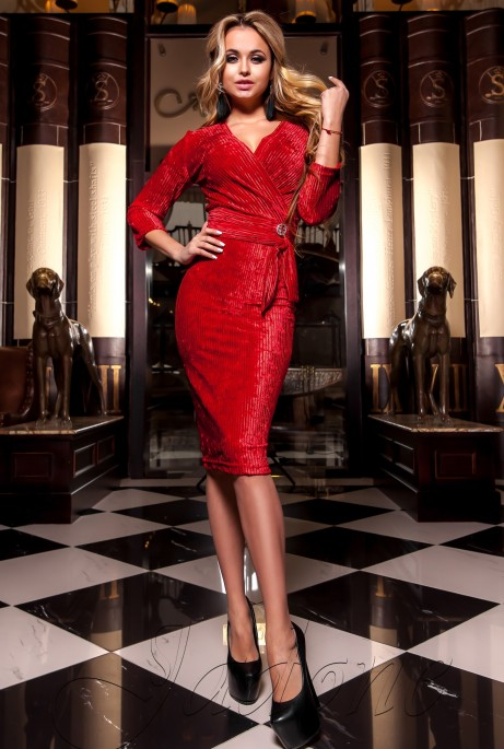 Платье Модус красный