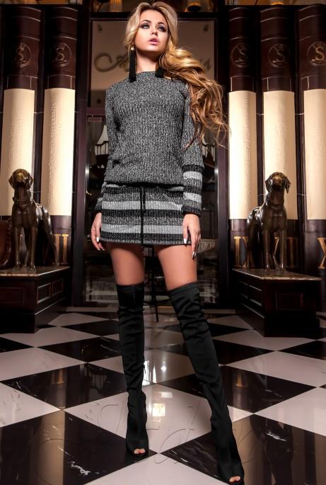 Платье-туника Мартини черный
