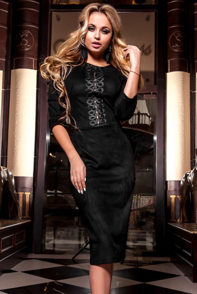 Платье Эрни черный Жадон