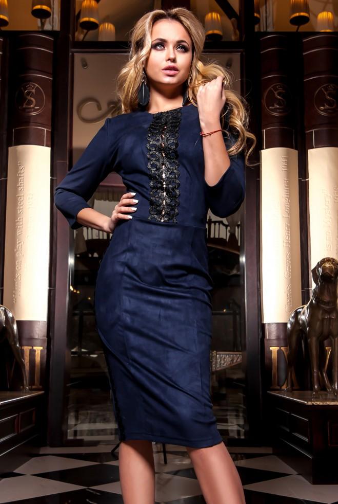 Платье Эрни тёмно-синий Жадон