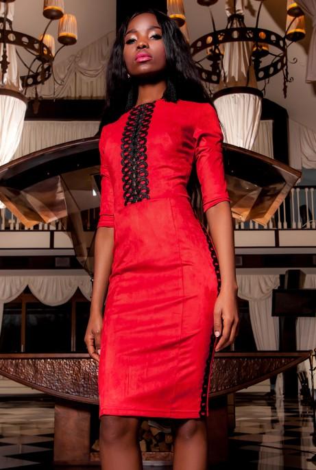 Платье Эрни красный
