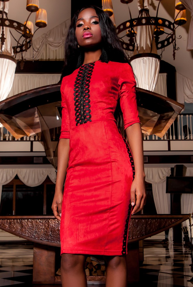 Платье Эрни красный Жадон