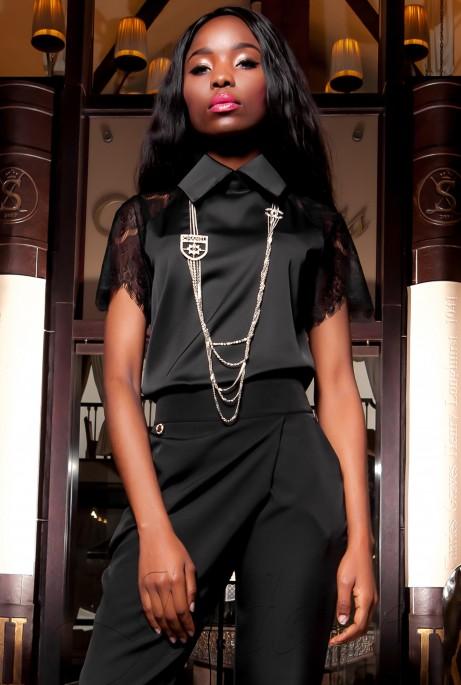 Блуза Перис черный