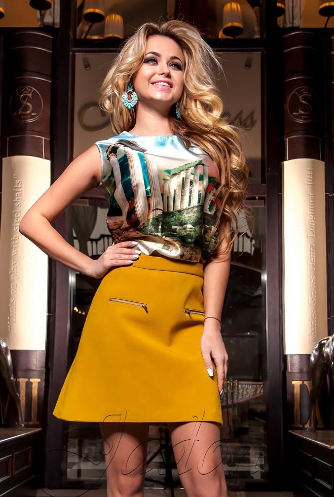Блуза Ролини бирюзовый