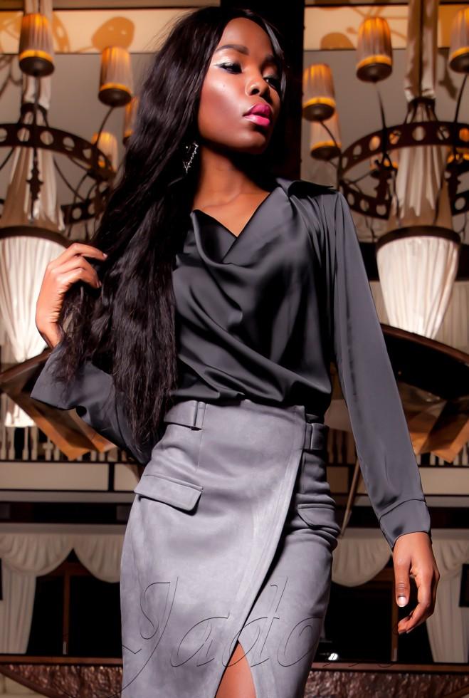 Туника-блуза  Кантили тёмно-серый