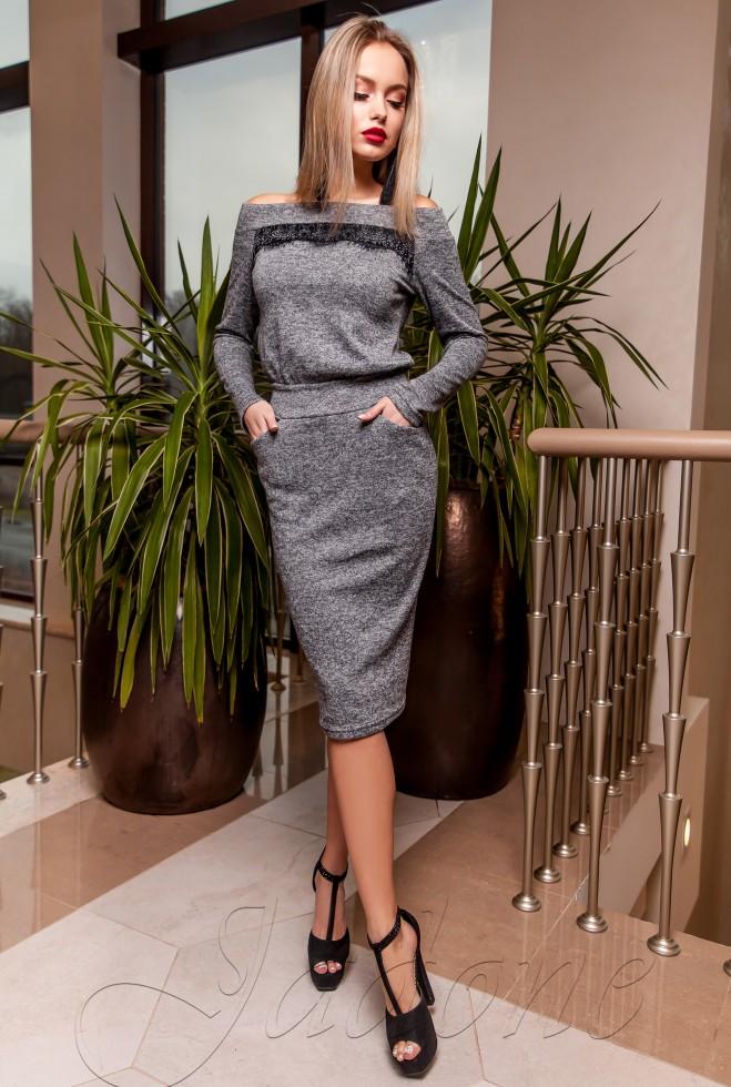 Платье Моратти серый