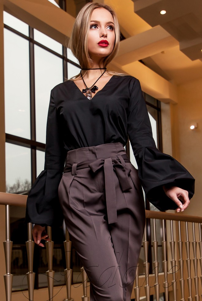 Блуза Шатто черный