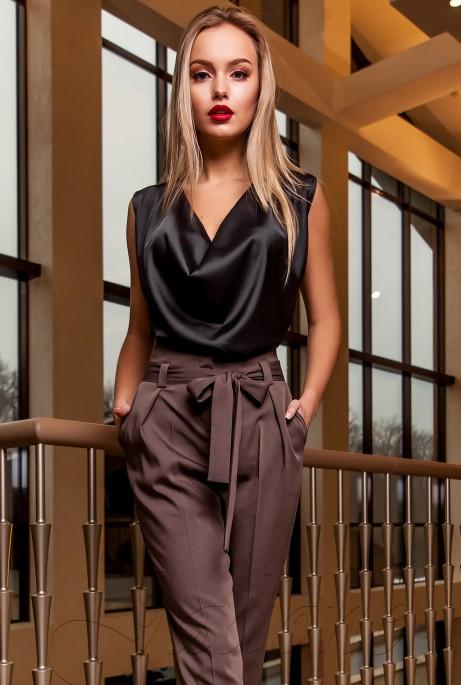Блуза Колинс тёмно-серый