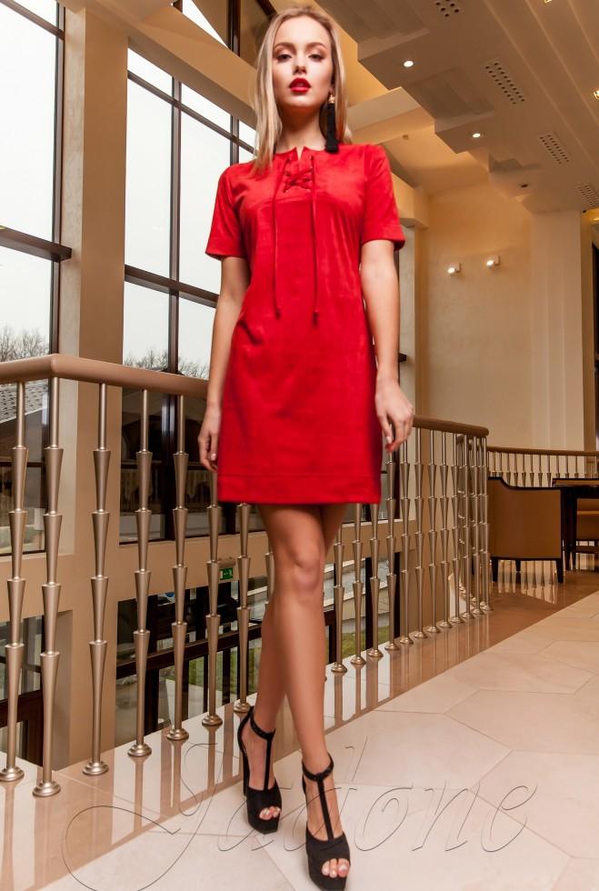Платье-туника Жордин красный Жадон
