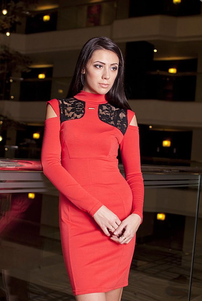 Платье Николь коралловый