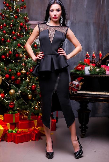 Платье Ребекка  черный