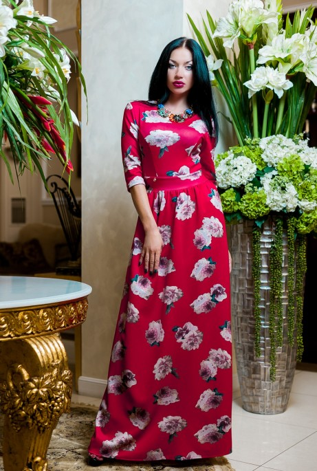 Платье Фирэтти  красный