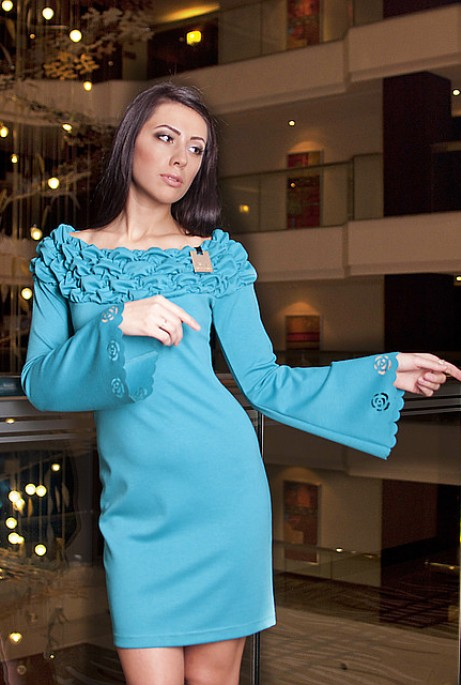 Платье Баффи бирюзовый