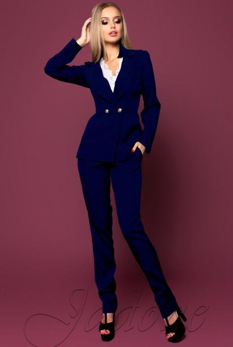 Костюм Сонет с брюками тёмно-синий