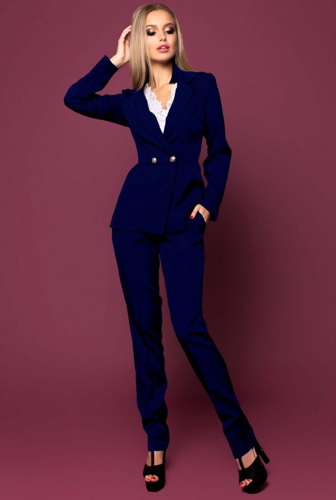 Костюм Сонет с брюками тёмно-синий Жадон