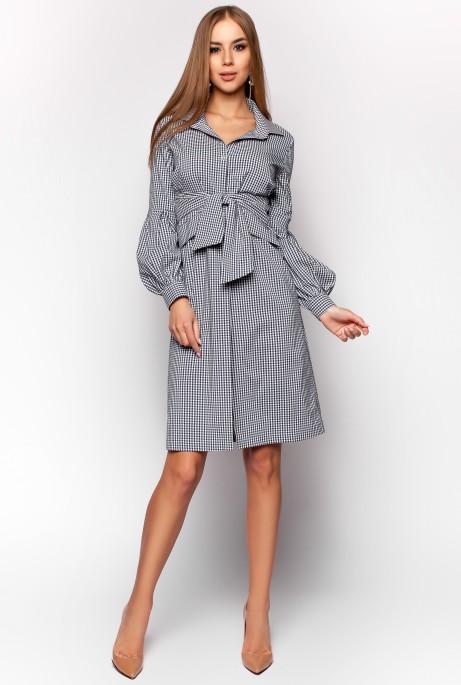 Платье-рубашка Нари черный