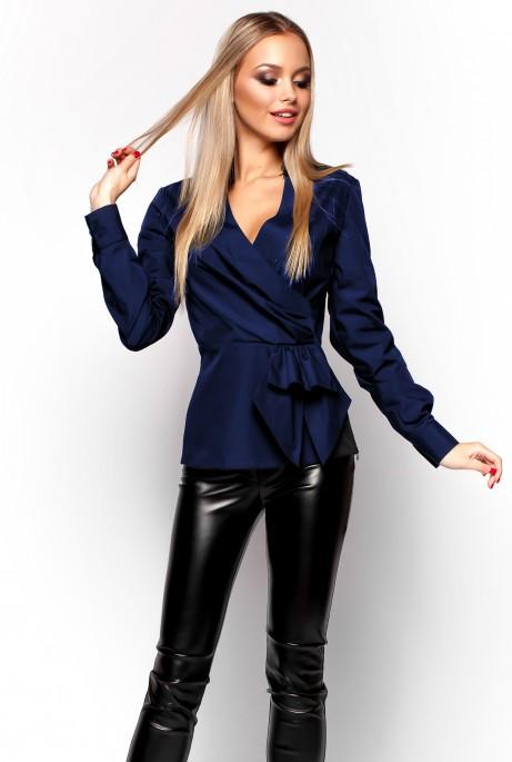 Блуза Карина тёмно-синий