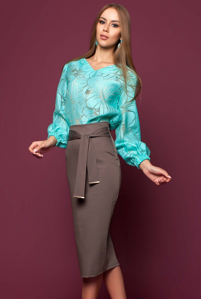 Блуза Юлин бирюзовый