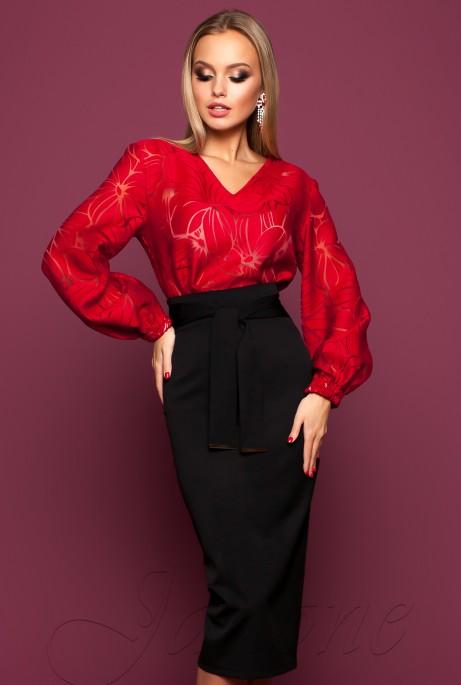 Блуза Юлин красный