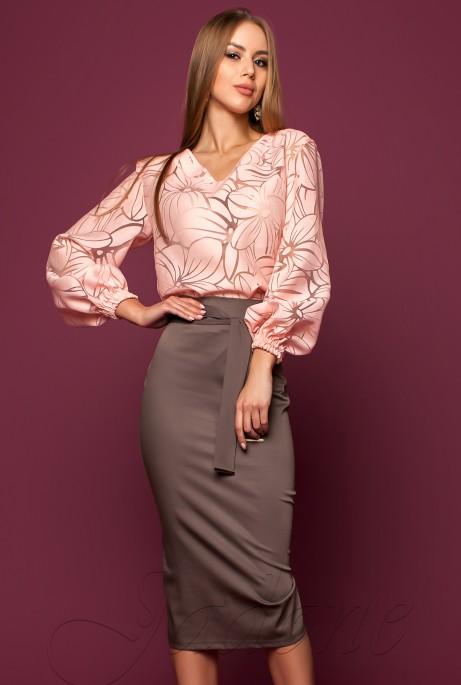 Блуза Юлин персиковый