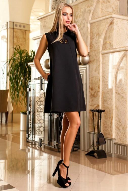 Платье-туника Кетти черный