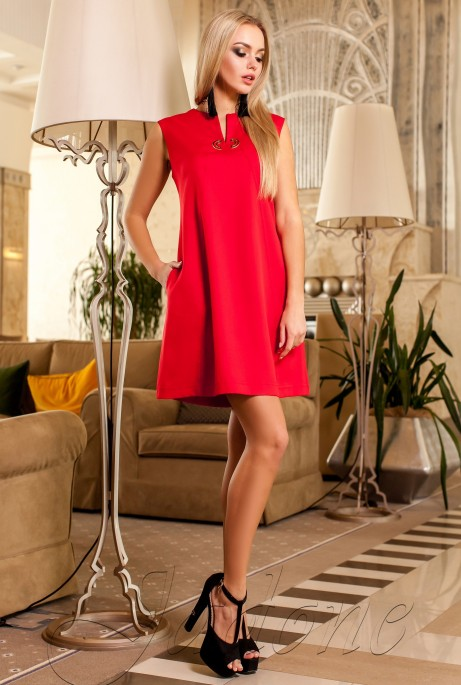 Платье-туника Кетти красный