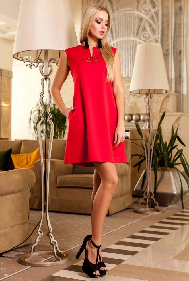 Платье-туника Кетти красный Жадон