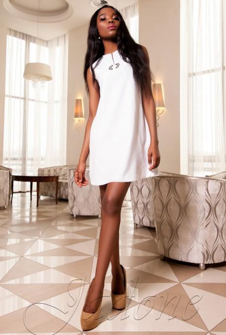 Платье-туника Кетти молочный