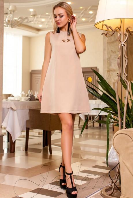 Платье-туника Кетти бежевый