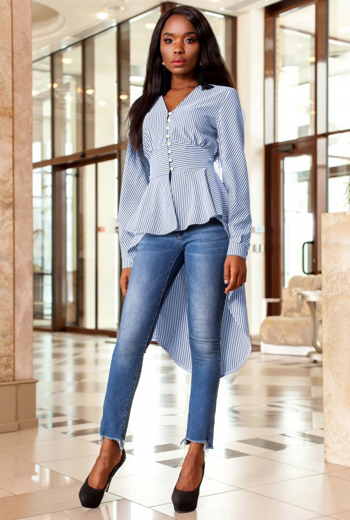 Рубашка-туника Гарсия синий