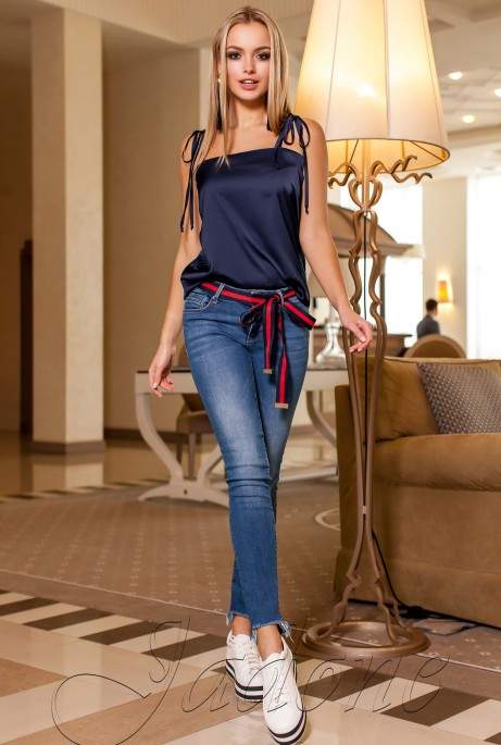 Блуза Анти тёмно-синий