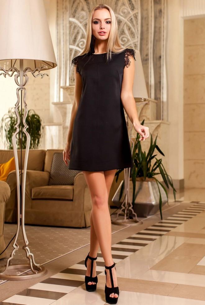 Платье Закира черный Жадон