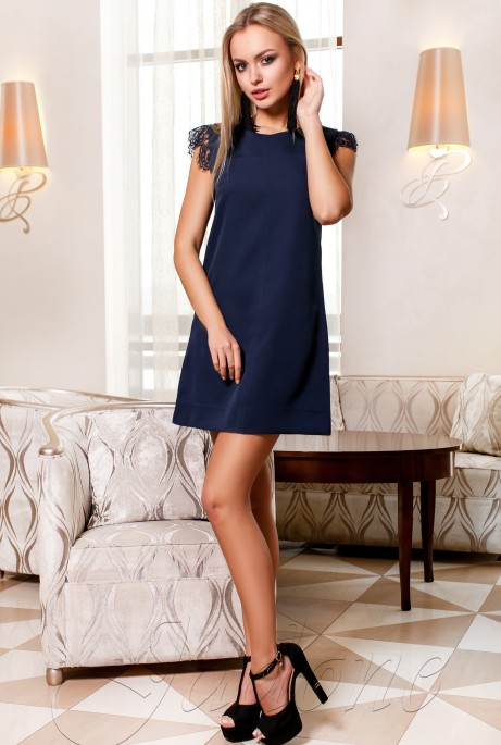 Платье Закира тёмно-синий