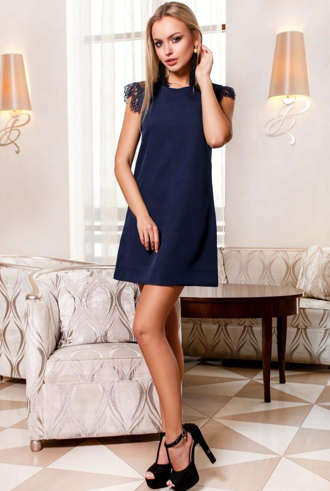 Платье Закира тёмно-синий Жадон