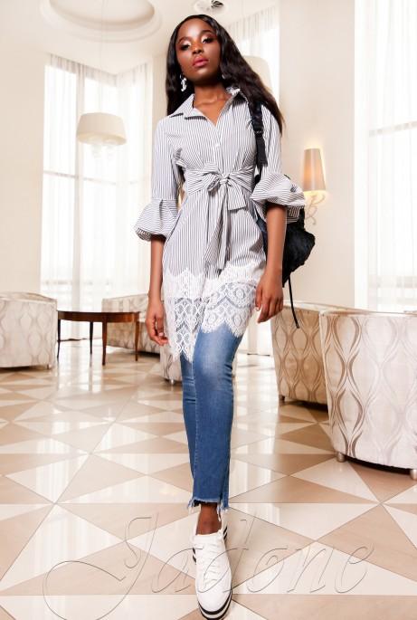 Платье-туника Клози серый