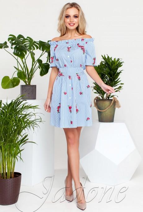 Платье Рикки голубой