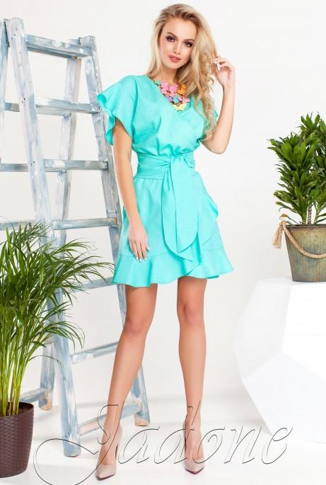Платье Нарциси бирюзовый