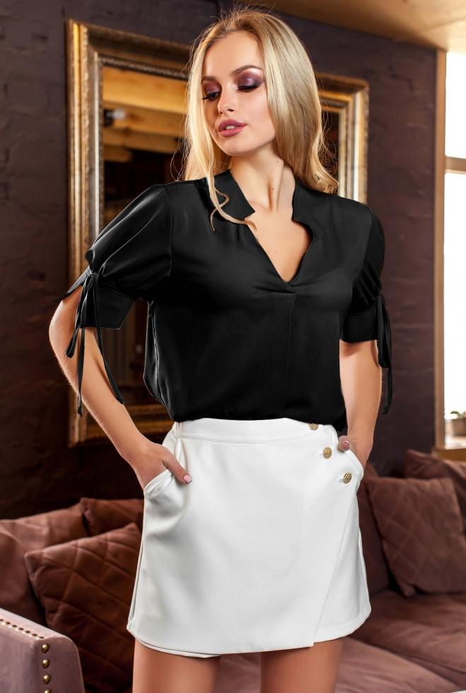Блуза Кармен черный