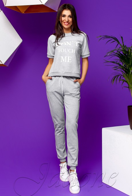 Костюм Кемри с брюками серый