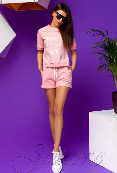 Костюм Кемри с шортами розовый