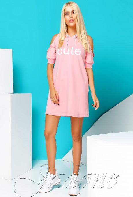 Платье Cute розовый