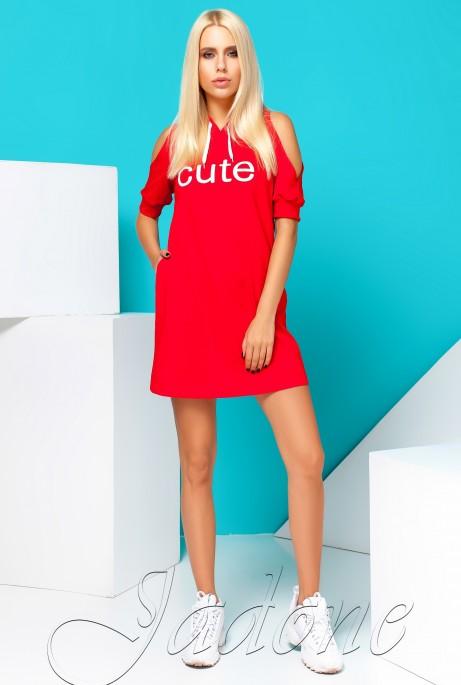Платье Cute красный