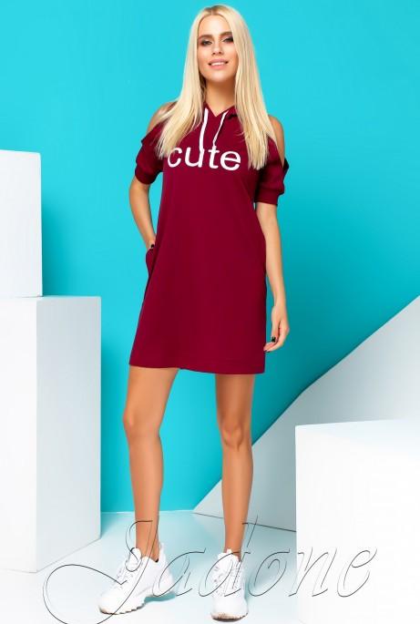 Платье Cute бордовый