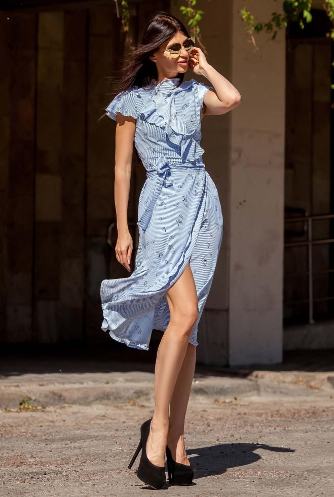 Платье Силин голубой