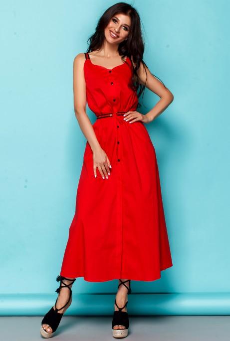 Платье Памела красный