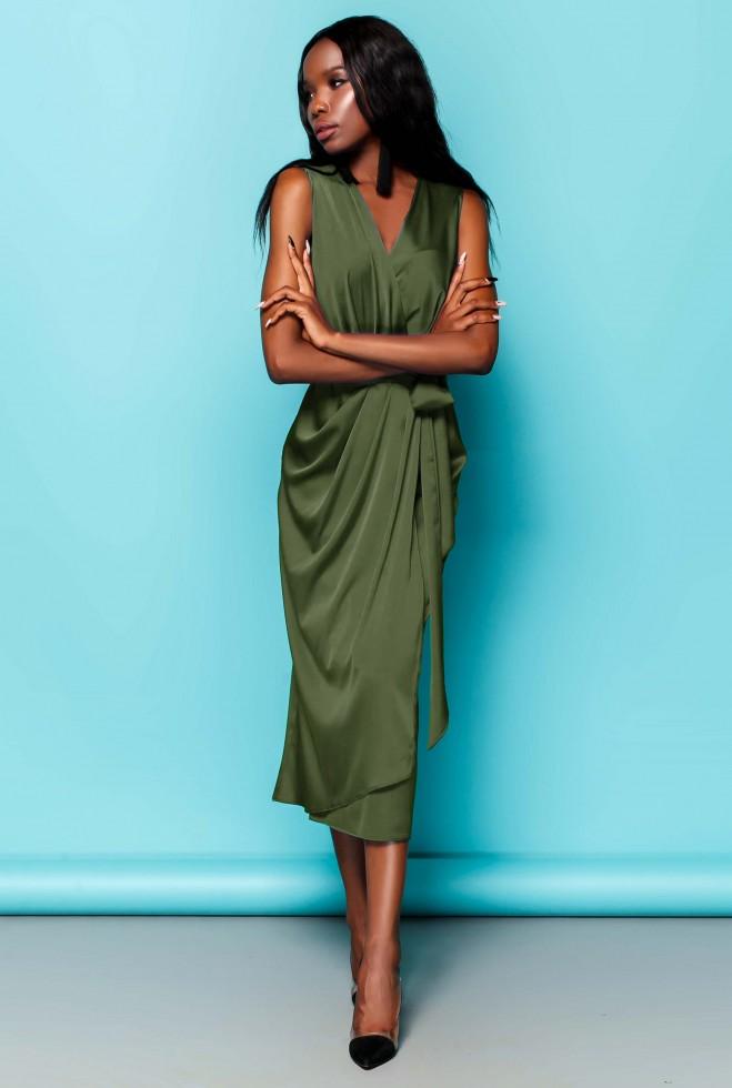 Платье Сати хаки Жадон