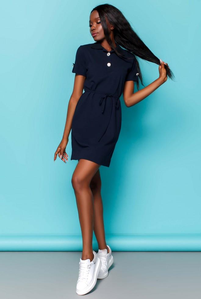 Платье Тарина тёмно-синий Жадон